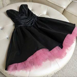 Gunne Sax Short Ball Formal Black Dress